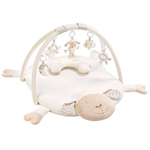 Fehn 154580 3-D-Activity-Decke Schaf / Spielbogen mit 5 abnehmbaren Spielzeugen für Babys Spiel & Spaß...