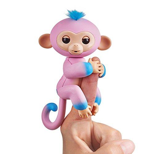 Fingerlings zweifarbiges Äffchen pink mit blau Candi 3722 interaktives Spielzeug, reagiert auf...