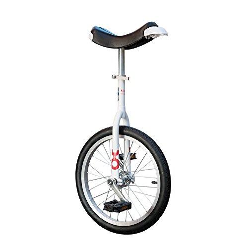 QU-AX 19009 Onlyone Einrad für Kinder und Anfänger 18', weiß/schwarz