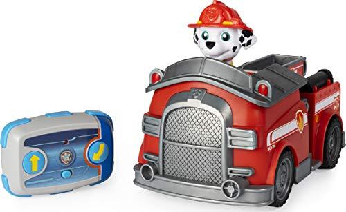 PAW Patrol 6054195 - Ferngesteuertes Feuerwehrauto mit Marshall - Figur, RC Fahrzeug in rot