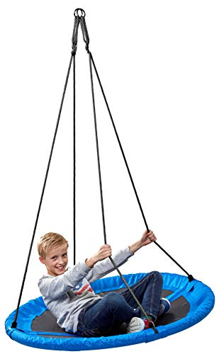 Nestschaukel 110 cm blau Garten-Schaukel 150 kg TÜV Rheinland GS Mehrkindschaukel