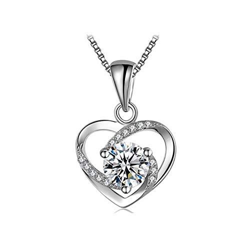 Yasvitti Geschenke Für Frauen 999 Sterling Silber Herz Halskette Kette für Damen Frauen Schmuck...
