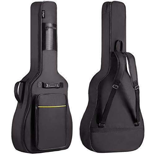 CAHAYA Gitarrentasche 41 Zoll (Schwarz und Gelb)