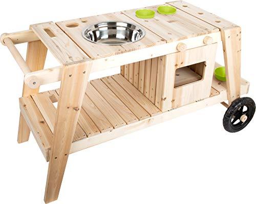 small foot 11665 Matschküche aus massivem und witterungsbeständigem Holz für Kinder ab 3,...