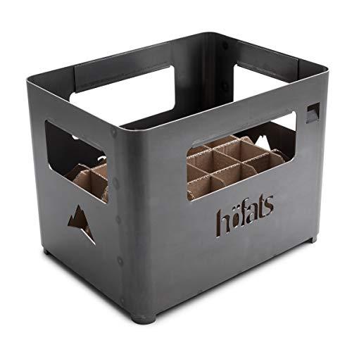 höfats - BEER BOX Feuerkorb - Getränkekiste, Feuerkorb, Grill und Hocker in einem - für Garten und...