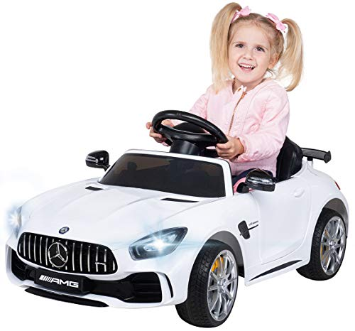 Actionbikes Motors Kinder Elektroauto Mercedes Amg GT-R - Lizenziert - 2 x 25 Watt Motor - Ledersitz -...