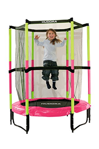 HUDORA Kinder-Trampolin Jump In mit Sicherheitsnetz - 140 cm, pink - 65609