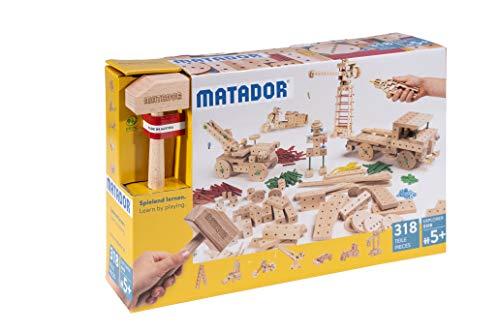 Matador E318 Baukasten, holzfarben, bunt