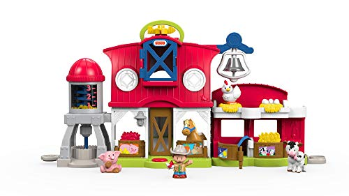 Fisher-Price FKD14 Little People Bauernhof Spielset mit Geräuschen inkl. 5 Spielfiguren und Tieren, ab...