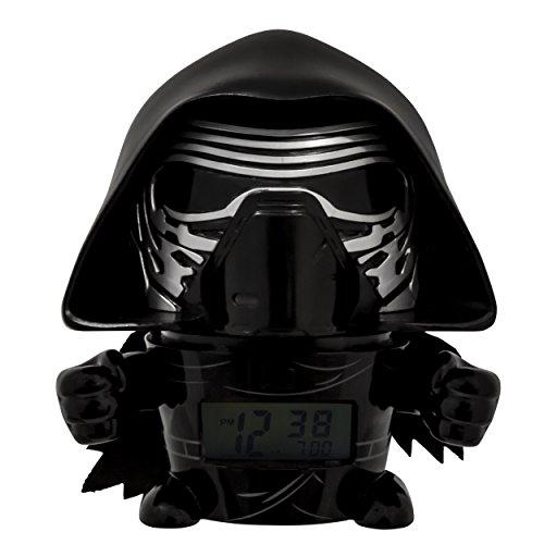 BulbBotz Star Wars 2021388 Kylo Ren Kinder-Wecker mit Nachtlicht und typischem Geräusch , schwarz/grau ,...