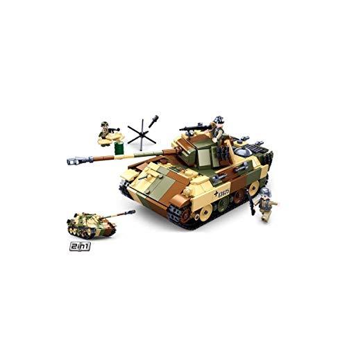 Sluban Klemmbausteine SL95719, WWII - Mittlerer Deutscher Panzer [M38-B0859], Spielset , Klemmbausteine,...