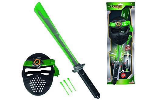 Simba 108042238 - Next Ninja Spielzeug Schwert und Maske mit Textilband, mit Licht und Sound Funktion,...