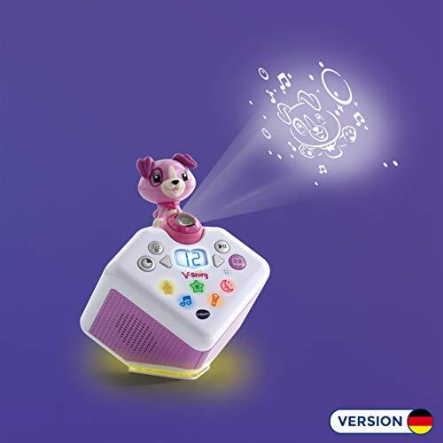 Vtech 80-608064 V-Story, die Hörspielbox pink, Musik-und Geschichtenbox, rosa