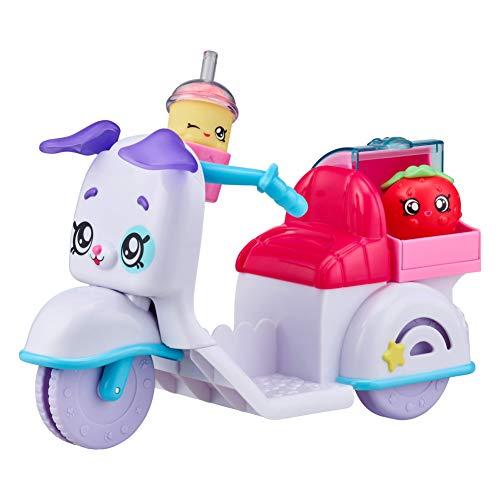 Kindi 50027 Kids Puppy Petkin-Liefermotorrad und 2 Shopkins