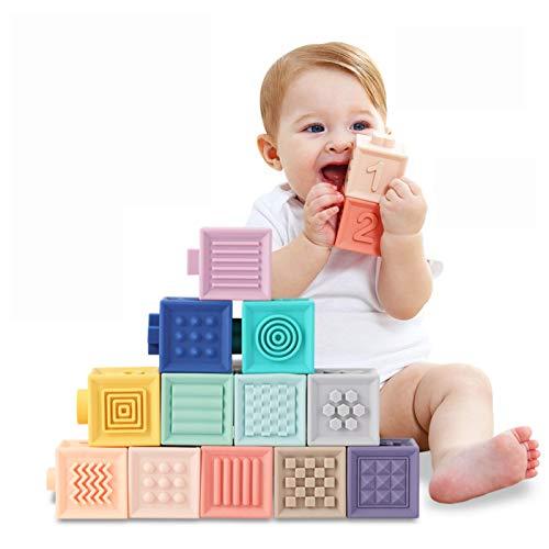 TUMAMA Babyspielzeug ab 6 12 Monate Babyblöcke Weiche Bausteine Babyspielzeug Beißringe Spielzeug...