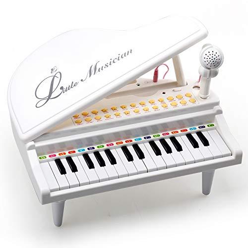 Amy & Benton Baby Keyboard Klavier ab 1 2 Jahre, Piano mit Mikrofon für Kinder ab 1 2 3 Jahr Mädchen...