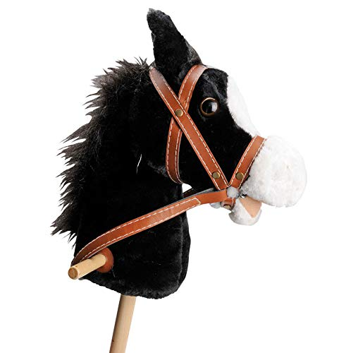 Schwarzes Steckenpferd Slh 2110 - Stabpferd - Holz-Kinderpferd - Wiehergeräusch