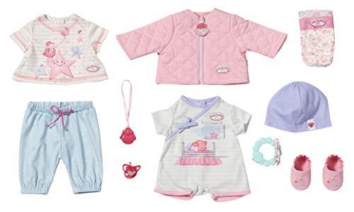 Zapf Creation 703267 Baby Annabell Kombi Set Puppenkleidung 43 cm, 12-teiliges Set bestehend aus Puppen...