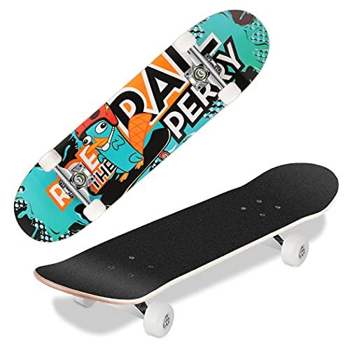 WeSkate Skateboard Kinder - 31x8 Zoll Komplette Cruiser Skateboard für Anfänger Jugendliche und...