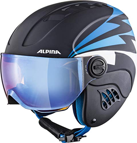 ALPINA CARAT LE VISOR Skihelm, Kinder, nightblue-denim matt, 54-58