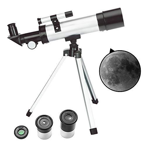 ToyerBee Teleskop Kinder & Anfänger – 50 mm Blende 360 mm astronomisches Refraktor Teleskop, Dreibein...