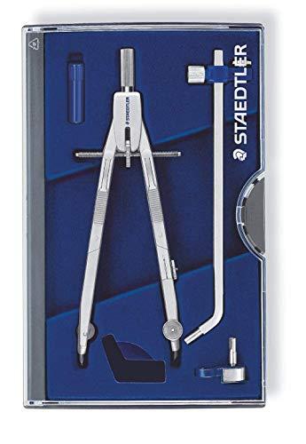 STAEDTLER Mars Professional 555 03 Zirkel, Zirkel mit Schnellverstellung, Set mit Verlängerungsstange...