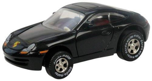 Darda 50309 Auto Porsche 911, Rennauto mit auswechselbaren Rückzugsmotor, Fahrzeug mit Aufziehmotor,...