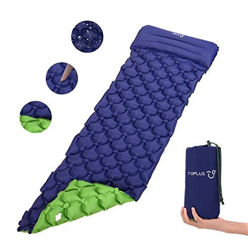 TOPLUS Isomatte Camping aufblasbar matratze Einzelne luftmatratze faltbar Isomatte selbstaufblasend...
