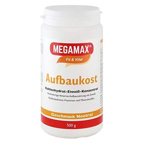 MEGAMAX Aufbaukost 500g Neutral - Astronautennahrung zur Kräftigung und bei Untergewicht - Trinknahrung...