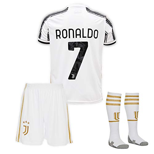 Juve #7 Ronaldo Trikot Set 2020-2021 Heim Kinder Fußball Trikot mit Shorts und Socken Kindergrößen.…...