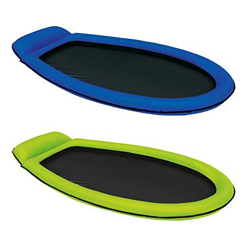 Intex Mesh Mat - Aufblasbarer Wasserhängematte - 178 x 94 cm - Farblich Sortiert 2er Pack