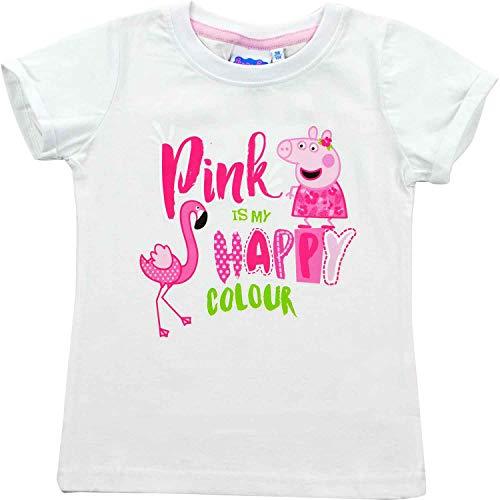 Peppa Wutz – Mädchen T-Shirt Pink is My Happy Colour Gr. 110/116 Shirt Kinder