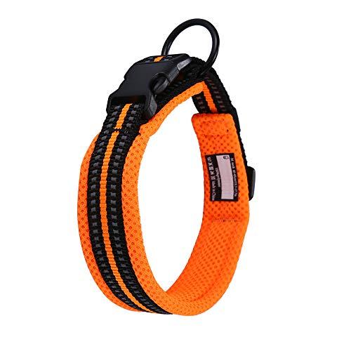 Kaka Mall Hundehalsband Verstellbare Nylon Hunde Halsband Atmungsaktives 3M Reflektierend Halsband...