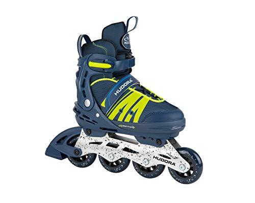 HUDORA Inline Skates Comfort, deep blue | Gr. 35-40 | Softboot Inliner Rollschuhe verstellbar in Länge &...
