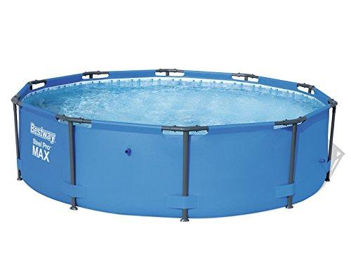 Bestway Steel Pro MAX, Frame Pool rund mit stabilem Stahlrahmen, 305x305x76 cm
