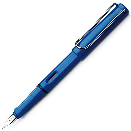 LAMY safari Füllhalter 014 – Moderner Füller in der Farbe Blau mit ergonomischem Griff und zeitlosem...