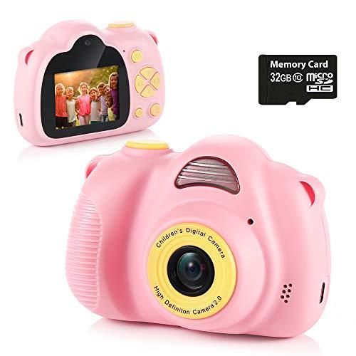 Fede Kinder Kamera mit 32GB TF-Karte, wiederaufladbare Selfie Kamera für Kinder, Kinder...