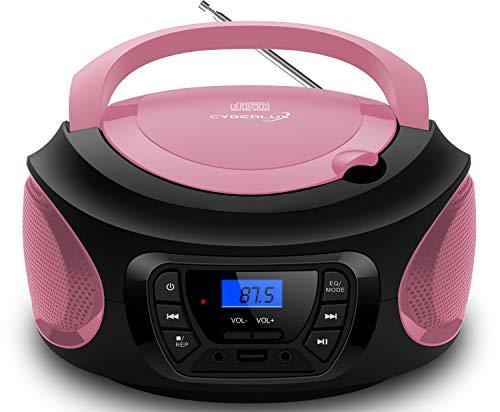 Tragbarer CD-Player | | CD/CD-R | USB | FM Radio | AUX-In | Kopfhöreranschluss | Kinder Radio | Boombox...