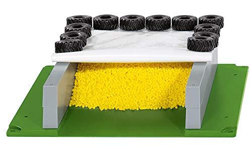 SIKU 5606 - Fahrsilo mit Plane, Reifen und Granulat, Kunststoff, Ideal für den Farmbereich, multicolor