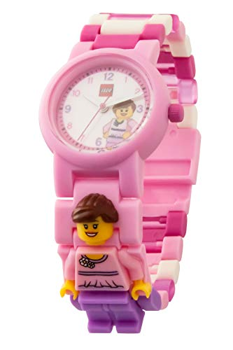 LEGO Classic 8020820 Rosa Kinder-Armbanduhr mit Minifigur und Gliederarmband zum Zusammenbauen,...