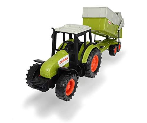 Dickie Toys Claas Traktor mit Anhänger, Trecker mit Kipper, Bauernhof Spielzeug, Spielzeugtraktor,...