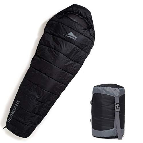 Steinwood Premium Schlafsack koppelbar extra breit 3-4 Season 210cm - Outdoor-Schlafsack,...