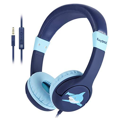 EasySMX Kinderkopfhörer, Ohren verkabelt Leichtkopfhörer mit Mikrofon, In-Line-Steuerung,...