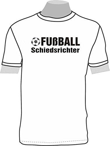 Fußball Schiedsrichter; Kinder T-Shirt weiß, Gr. 12-14