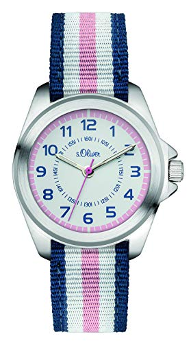 S.Oliver Mädchenuhr Analog Quarz Armbanduhr SO-3133-LQ