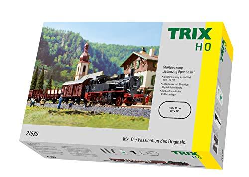 Märklin Trix 21530 Startpackung Güterzug Epoche III, Spur H0 Modelleisenbahn, mit Mobile Fahrregler und...
