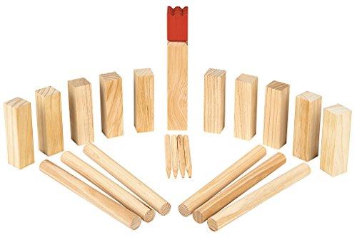 Moses 92095 Wooden Game Kubbs - Wikingerspiel | Geschicklichkeitsspiel | Aus Holz