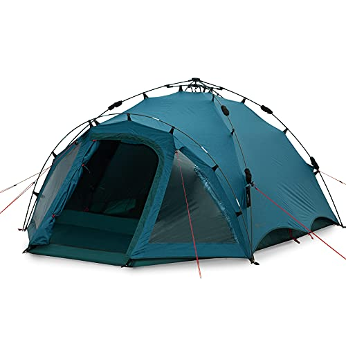 Qeedo Quick Oak 3 Personen Campingzelt, Sekundenzelt, Quick-Up-System - lakeblue