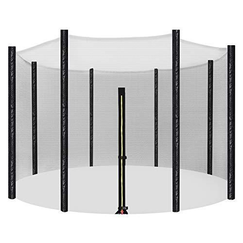 SONGMICS Sicherheitsnetz für Trampolin, Ø 305 cm, Ersatznetz für 8 Stangen, rundes Schutznetz für...