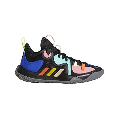 adidas Harden Stepback 2 J Basketballschuhe, Unisex, Kinder, Mehrfarbig - Mehrfarbig (Negbás Amaril...